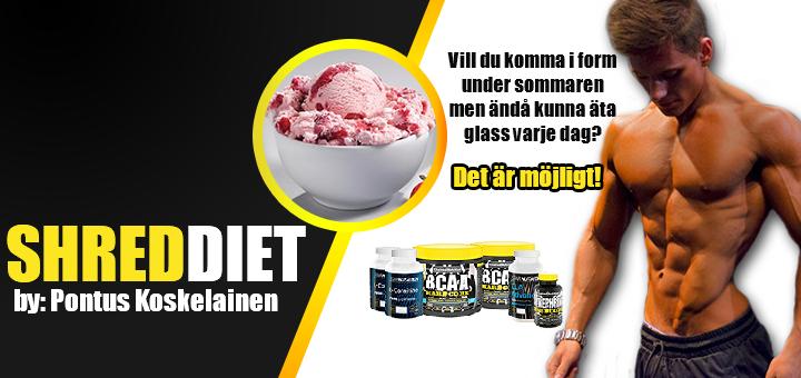 Shred Diet Ice Cream Banner