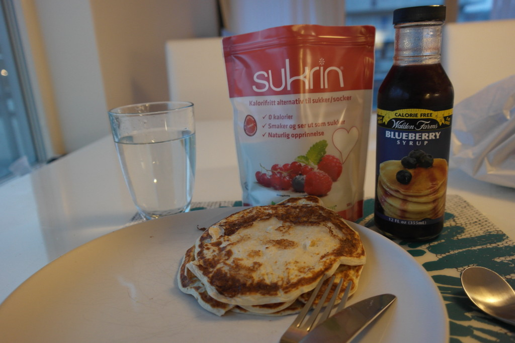 Sukrin, Walden Farms, protein pancakes