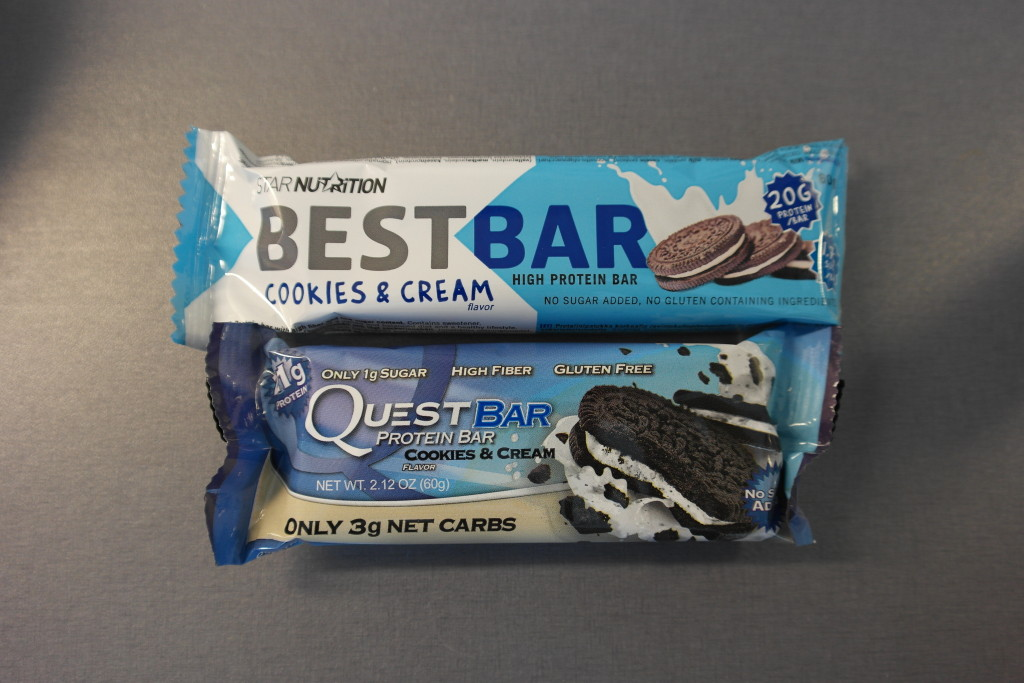 Best Bar Cookies & Cream vs. Quest Bar